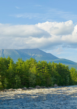 Katahdin from Abol Falls in Summer