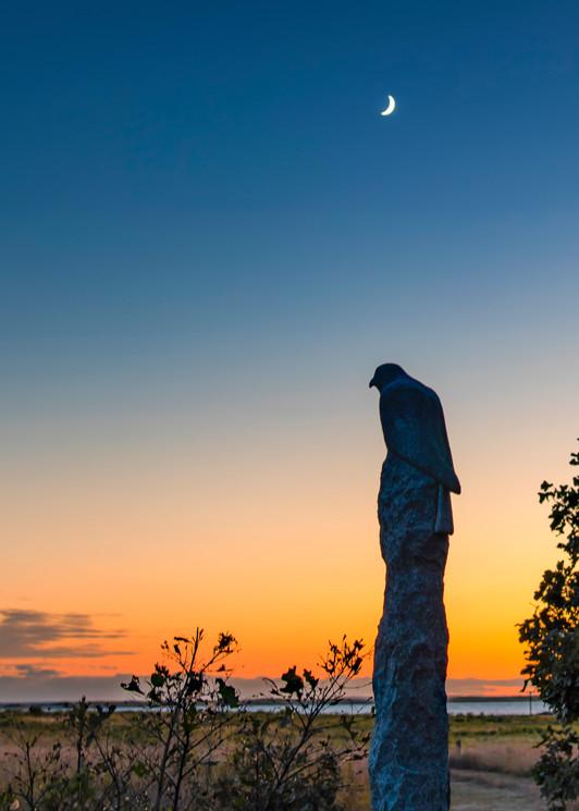 Long Point Statue Sunset Art | Michael Blanchard Inspirational Photography - Crossroads Gallery