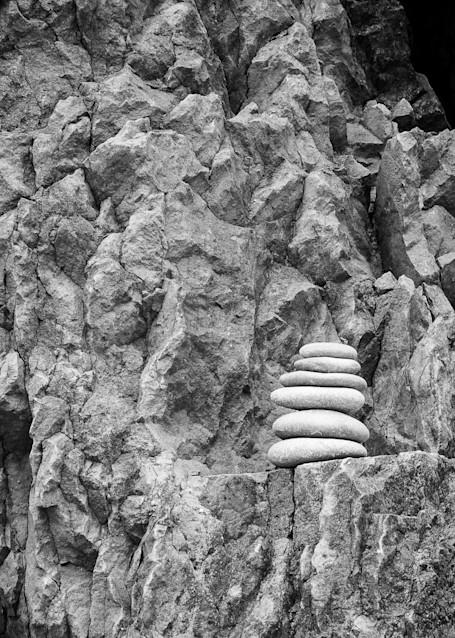 Cairn on a Rock Ledge, Ruby Beach, Olympic National Park, Washington, 2013