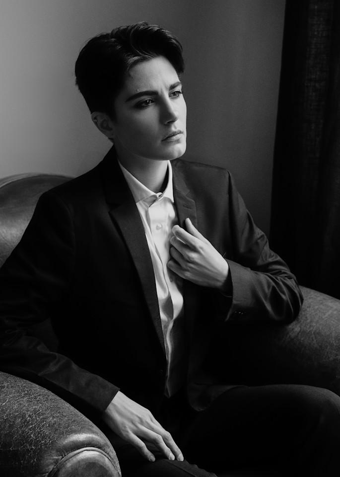 Roarie Androgenue B/W Photography Art | LenaDi Photography LLC