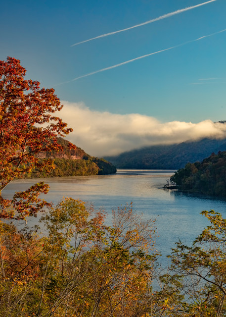 Low Hanging Clouds New River Gorge  1349 Art | Koral Martin Fine Art Photography