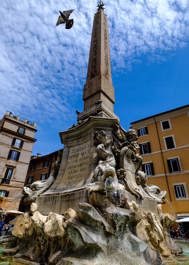 Rome Pantheon Fountain