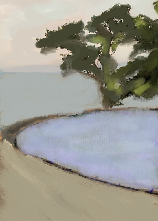 Pool With Tree Art   Peter Anderson Studio