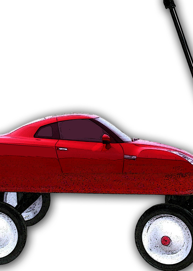 My Red Wagon Is A Sporty Car Art | Art from the Soul