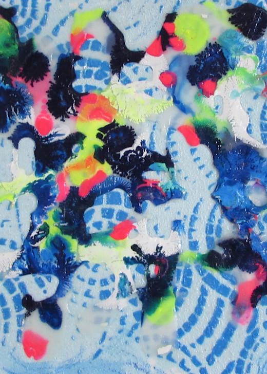 Abstract In Blue 1 Art   Linda Sacketti