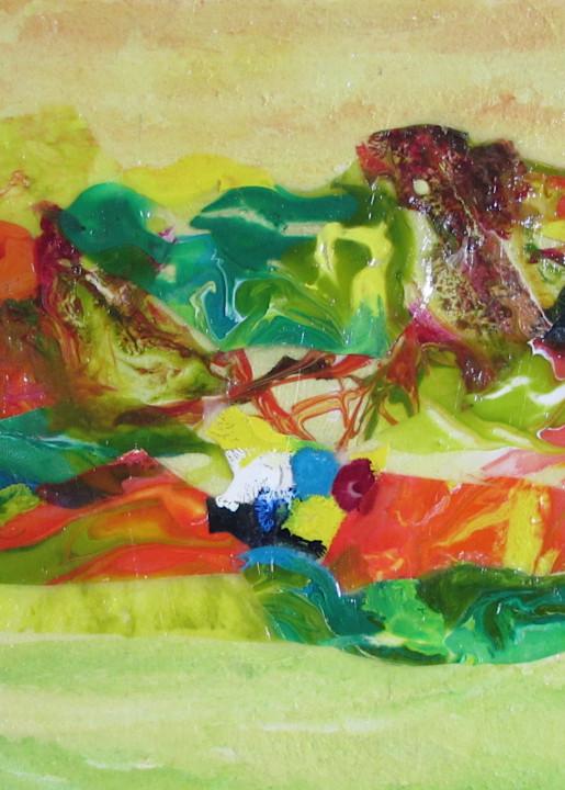 Abstract In Yellow 1 Art | Linda Sacketti