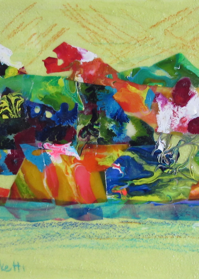 Abstract In Yellow 4 Art   Linda Sacketti