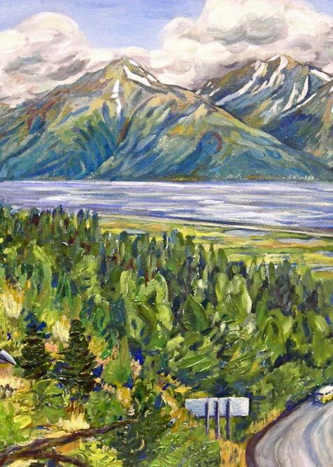Raven at Turnagain Arm by Mountains and Ocean - Art Alaska Print