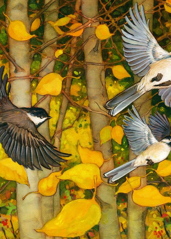 Falling Leaves Art | Studio Girard