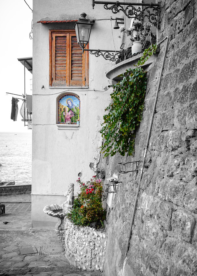 Seaside Madonna Italy Photography Art | The World in Black and White