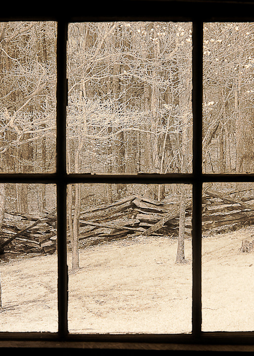 Window View, Tennessee Photography Art | The World in Black and White