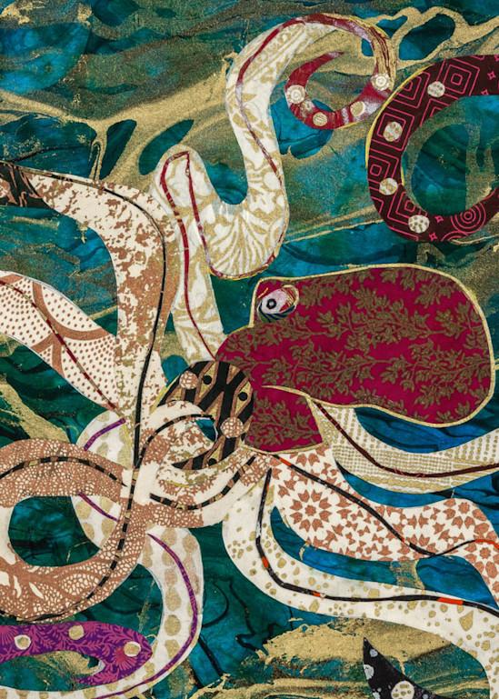 Purple Octopus Art   capeanngiclee