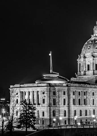 Church And State In Saint Paul Black And White Photography Art | William Drew Photography