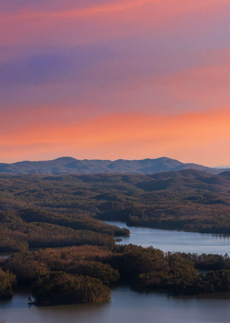 Chilhowee overlook at sunset in Cleveland, Tennessee