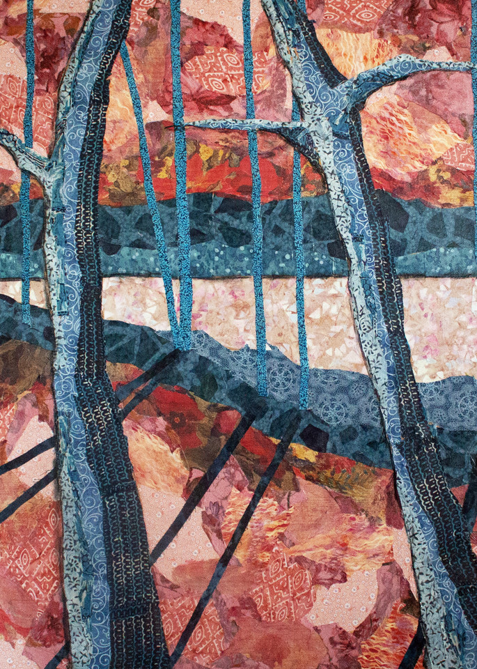 early morning print a textile mosaic by Sharon tesser