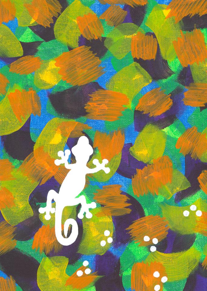 Gecko Walk Art | Off The Edge Art