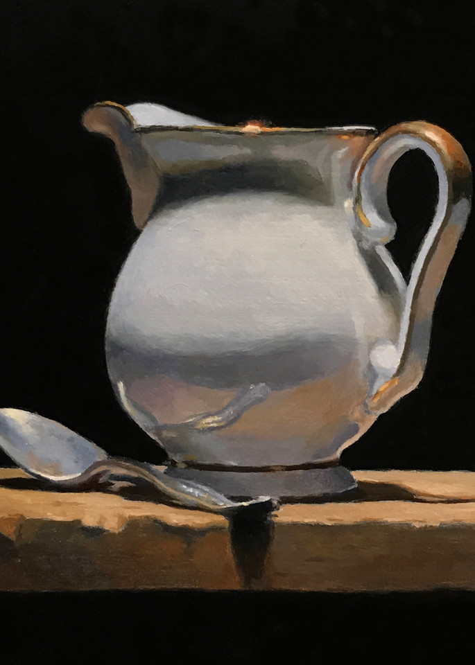 Silver Spoon And Creamer Art | Jeff Hayes Fine Arts