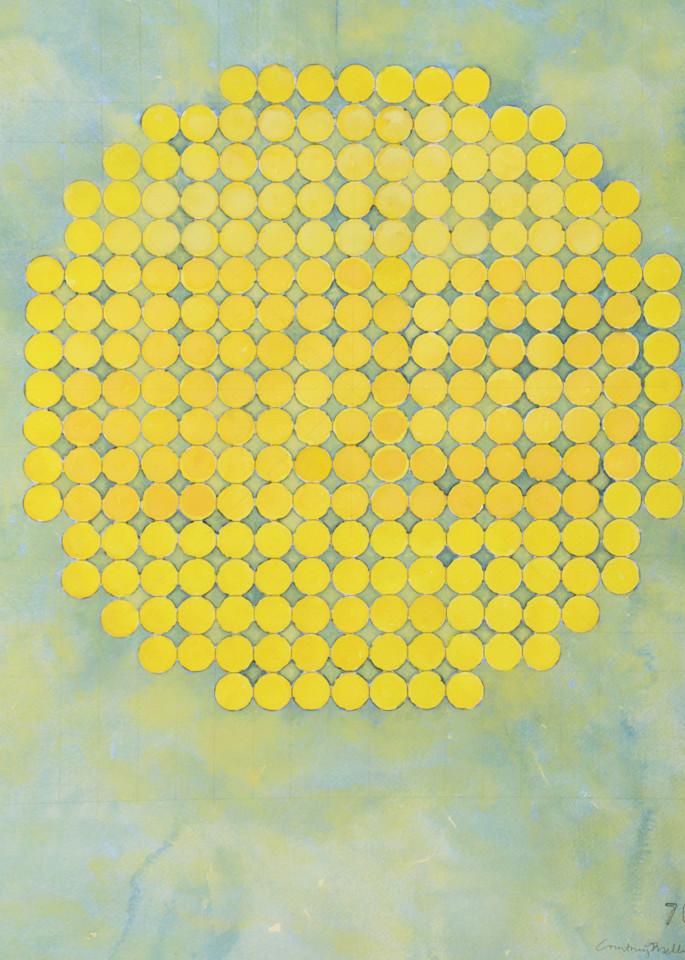 Circle Circle, Yellow On Lime Art   Courtney Miller Bellairs Artist