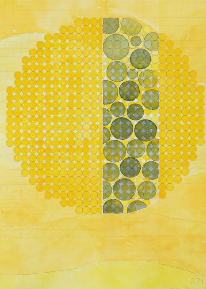 Circle Circle, Yellow Art | Courtney Miller Bellairs Artist