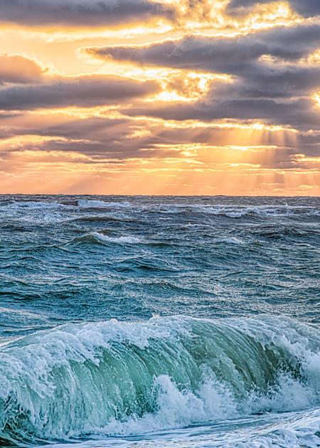 South Beach Fall Sunbeams And Crashing Wave Art | Michael Blanchard Inspirational Photography - Crossroads Gallery