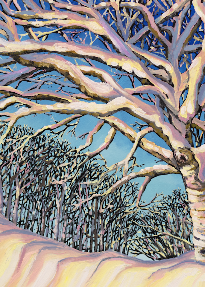 Golden Birch II Art for Sale