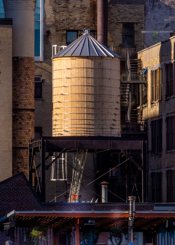 Golden Water Tower, Nyc Photography Art | Ben Asen Photography