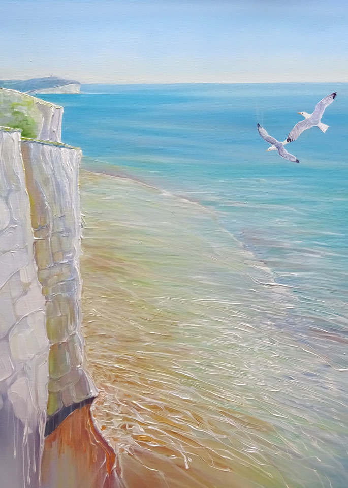print on canvas or paper of seaford seascape
