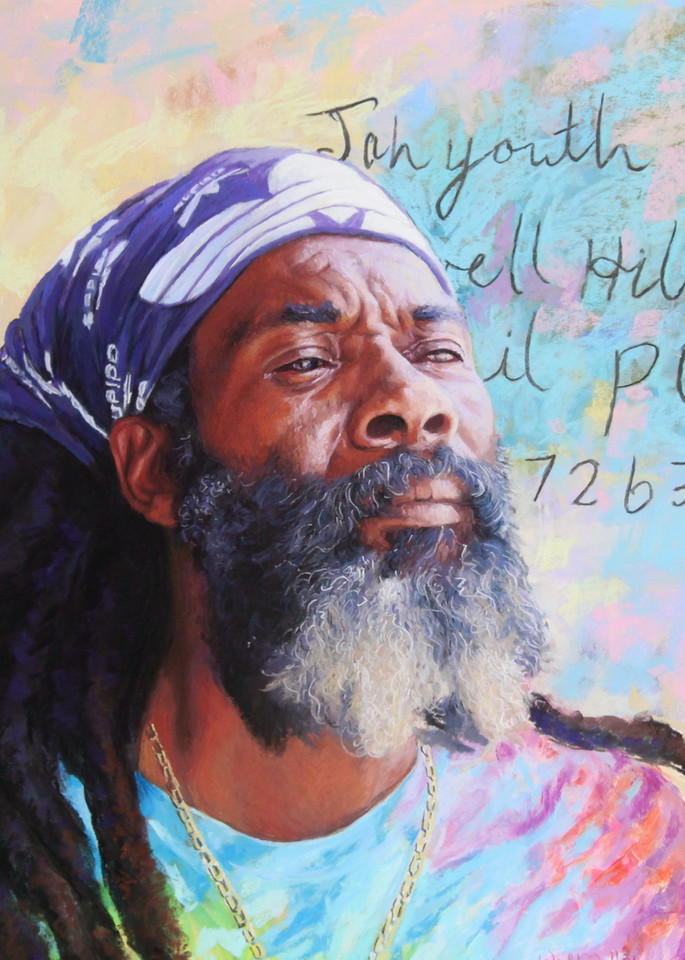 Jah Youth Strikes A Pose  Art | Waif Mullins Art