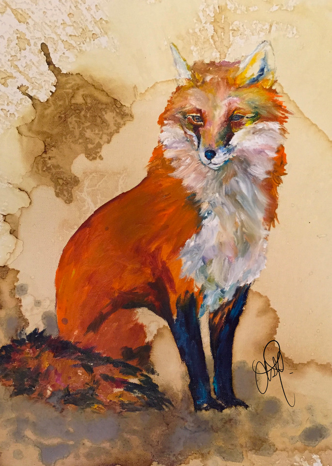 Fox In Oil Art | Christy! Studios