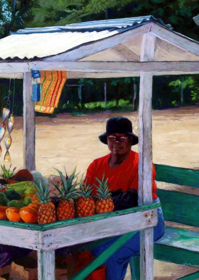 The Ladies Fruit Stand, Negril, Jamaica  Art | Waif Mullins Art