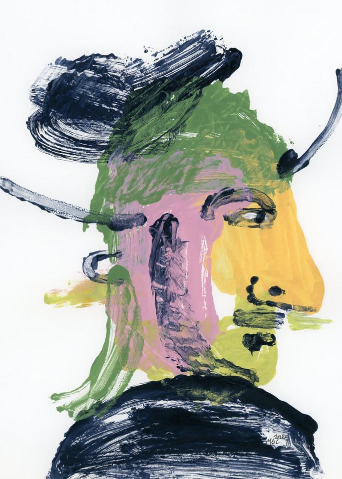 Warrior blot-art painting print by Marsha Carrington