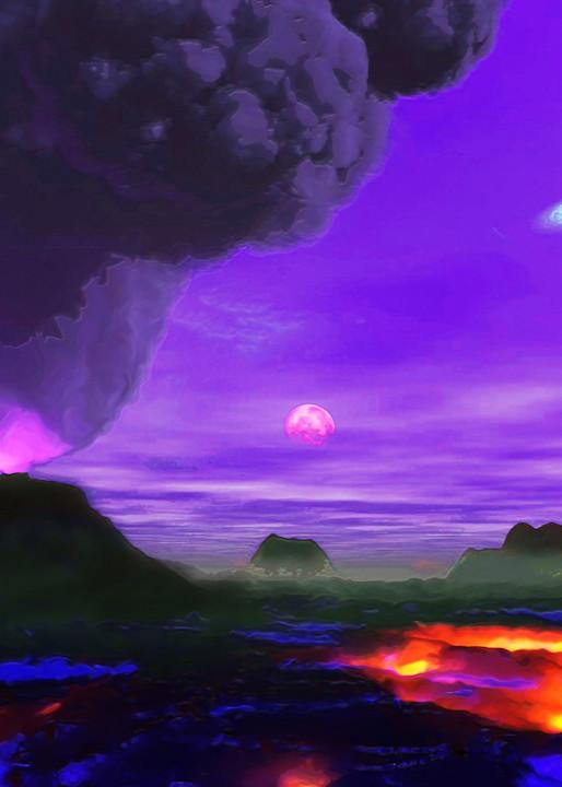 Volcano Planet Art   Don White-Art Dreamer