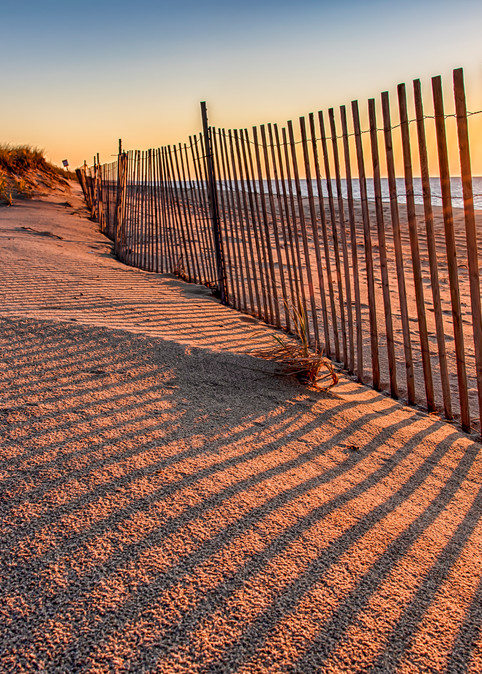 Long Point Sunrise Snow Fence Art | Michael Blanchard Inspirational Photography - Crossroads Gallery