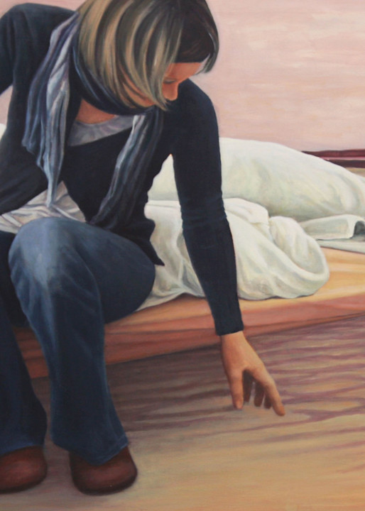 The Bed And The Water Art   Lidfors Art Studio