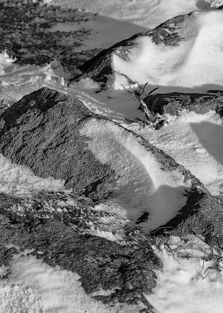 Rocks in the Snow, Mount Rainier National Park, Washington, 2007