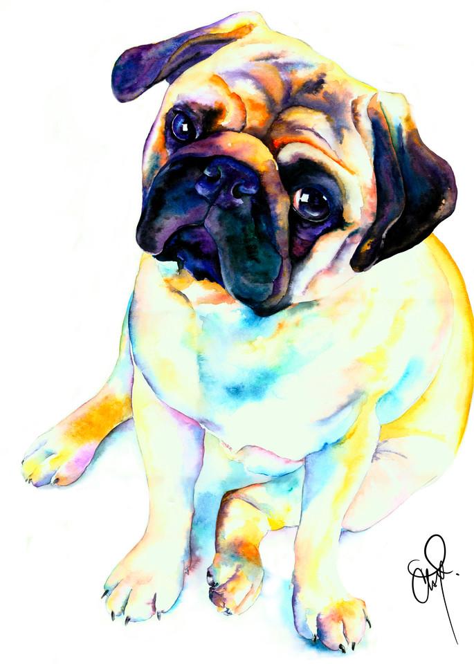 Pug Posed For Love Art | Christy! Studios