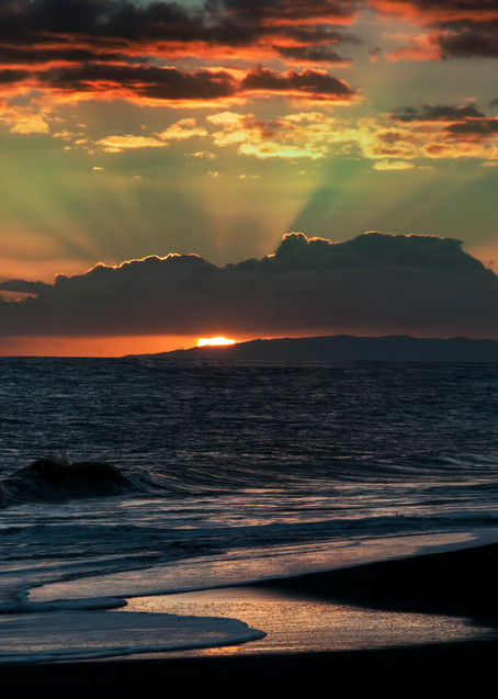Green Flash Sunset Over Niihau Photography Art | Ed Sancious - Stillness In Change