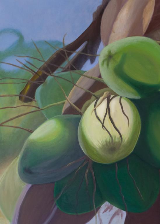 Green Coconuts Art | Pearl White Studio