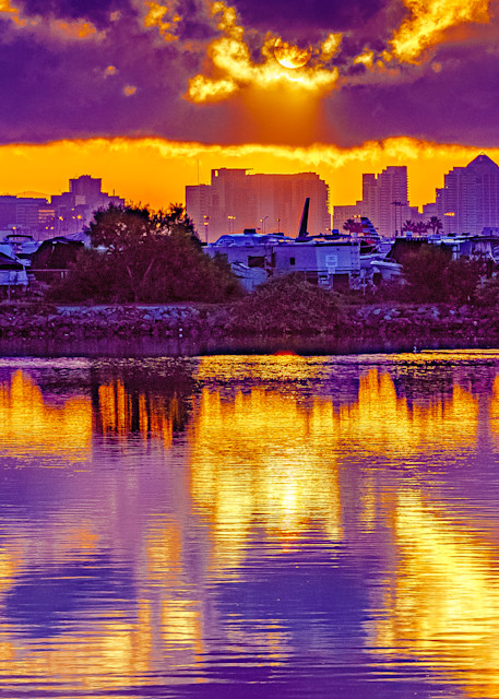 Liberty Station, San Diego Reflective Sunrise Fine Art Print by McClean Photography