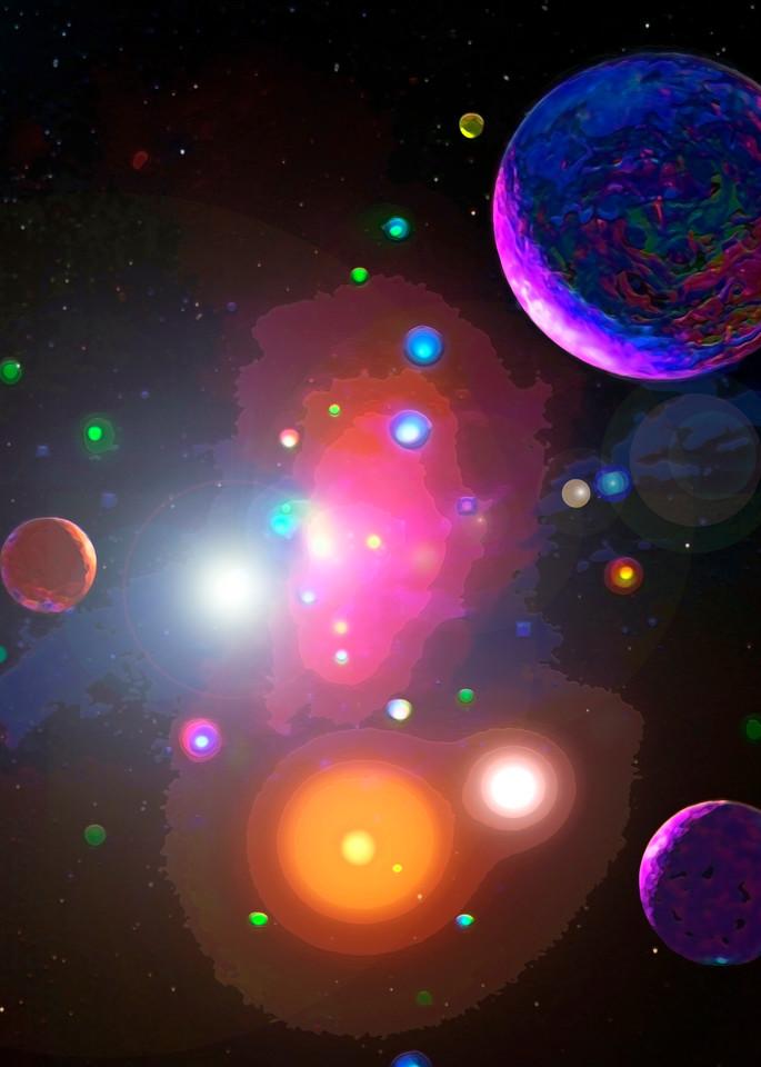 Galactic Neighborhood 2 Art | Don White-Art Dreamer