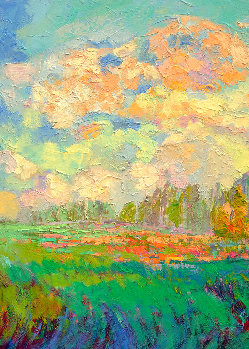 Beautiful Landscape Painting Fine Art Print by Dorothy Fagan
