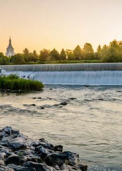Idaho Falls Temple - Golden Falls