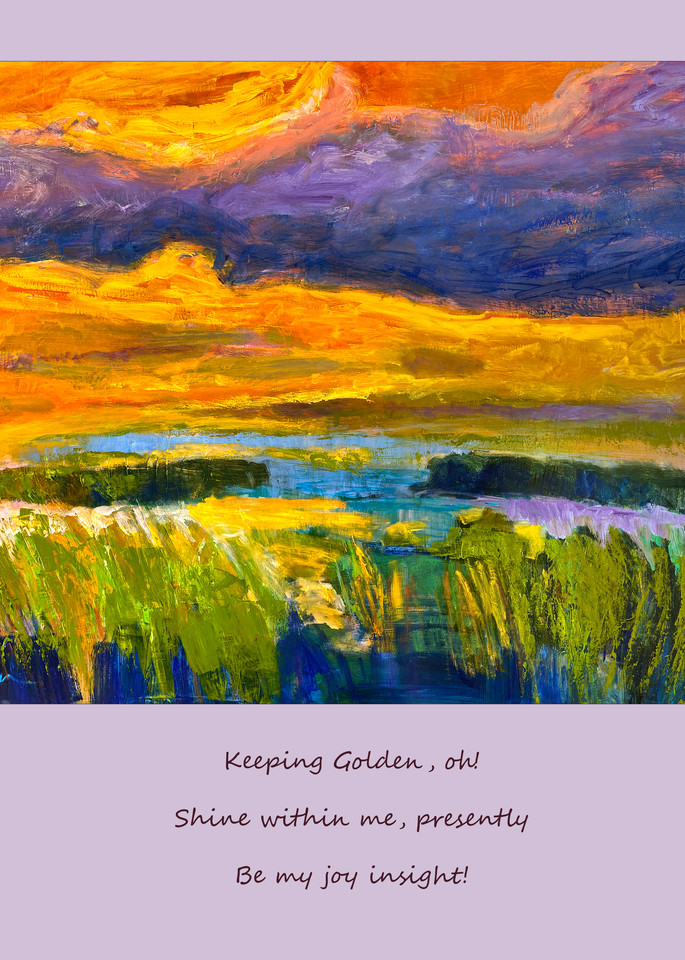 Inspiring Art Poetry Wall Decal, Keeping Golden by Dorothy Fagan