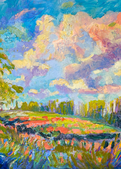 Oversize Landscape Painting, Wall Art by Dorothy Fagan