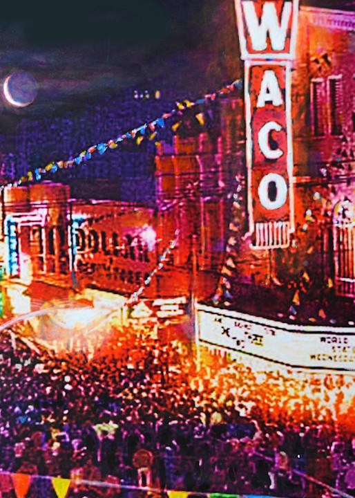 Waco Theatre 1960 Art   Charles Wallis