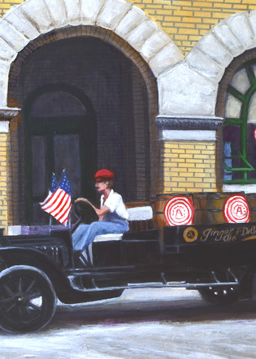 Dr Pepper Delivery Truck 1919 Art   Charles Wallis