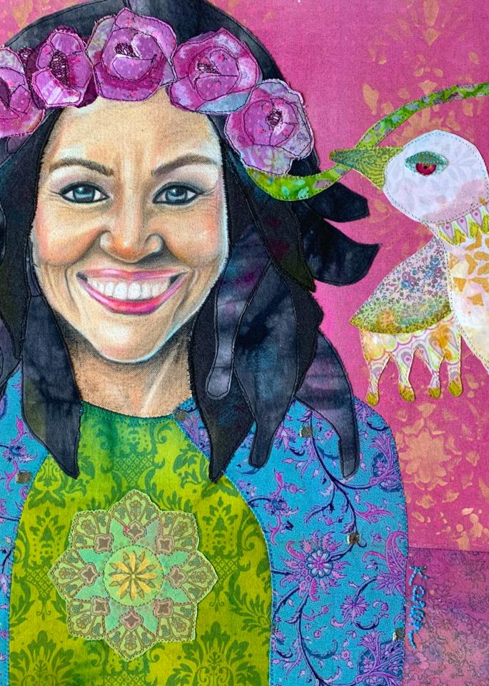 Michelle Obama; When They Go Low, We Go High Art   Karen Payton Art