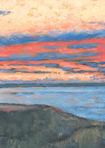 Morning Sky   Cattle Point Light  Art   Friday Harbor Atelier
