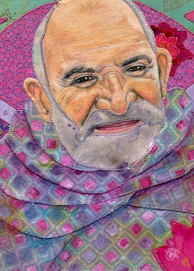 Baba Neem Karoli; L O V E Everyone Art | Karen Payton Art