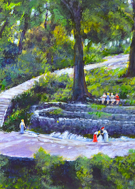 Proctor Springs Cameron Park 1922 Art | Charles Wallis